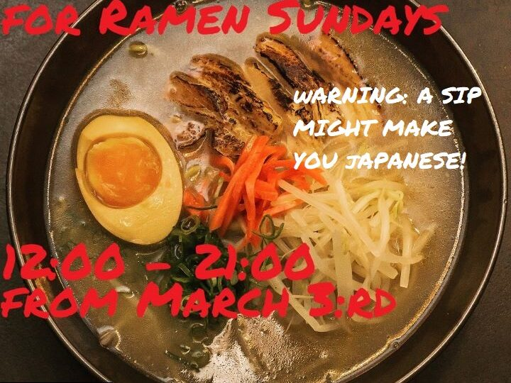 Update: Ramen Sundays are changing opening hours from March 3:rd